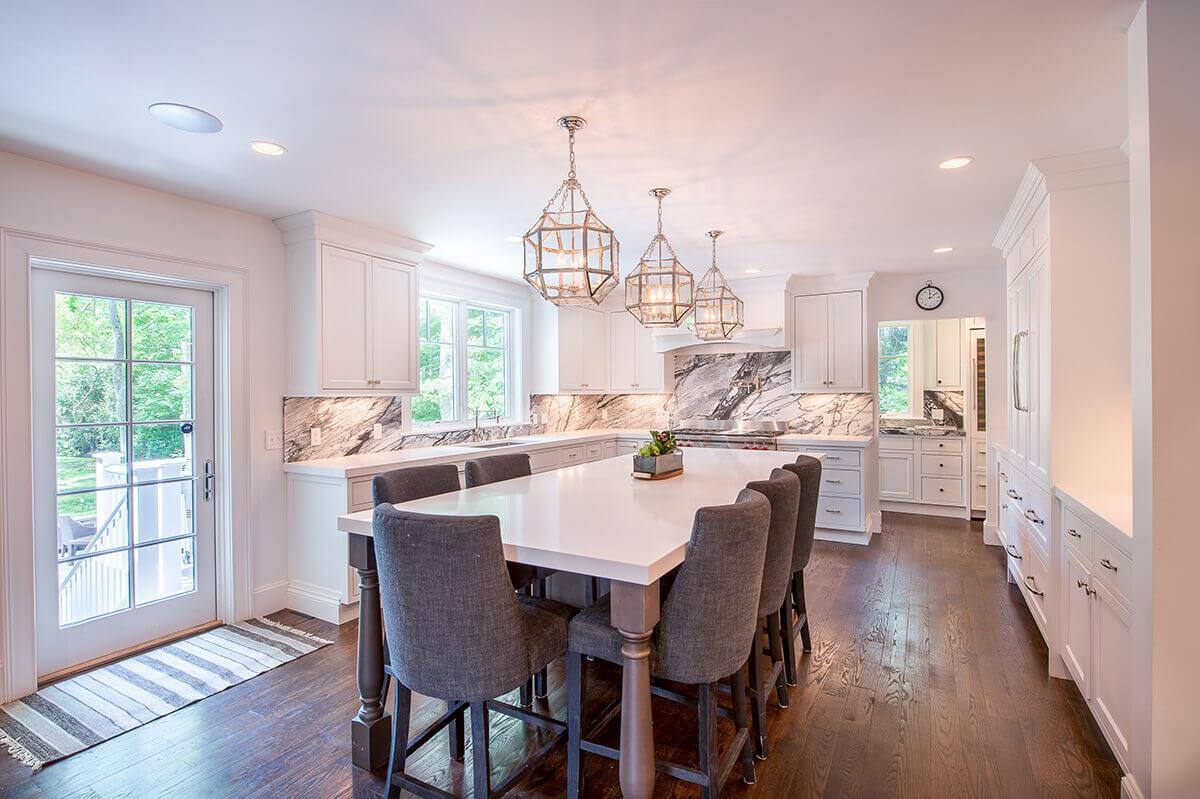 modern kitchen marble backsplash - kitchen design builder westborough mass