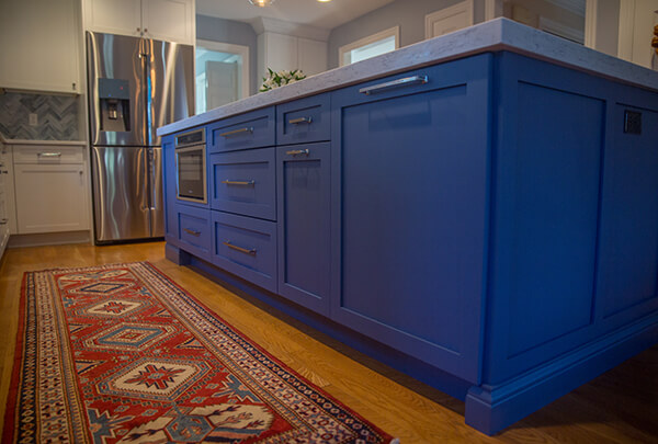 blue colors in kitchen design and builder westborough mass