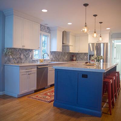 blue in kitchen design builder westborough mass
