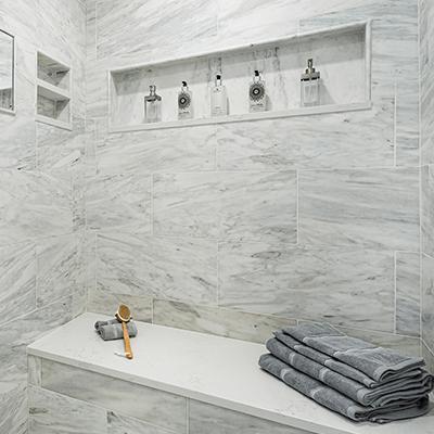 marble bathroom design - master bathroom with carrara marble redesign westborough mass-2