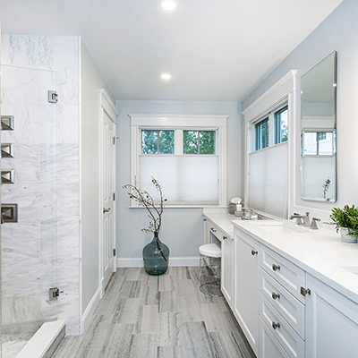 marble bathroom design - master bathroom with carrara marble redesign westborough mass-5