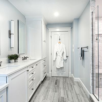 marble bathroom design - master bathroom with carrara marble redesign westborough mass-8
