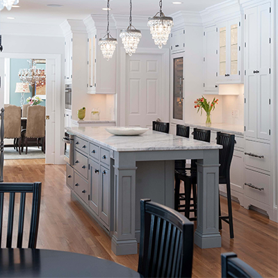 Classic White Beaded Kitchen Design Company in Westborough