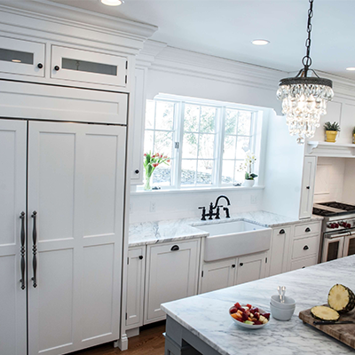 Classic White Beaded Kitchen Design Company in Westborough 1