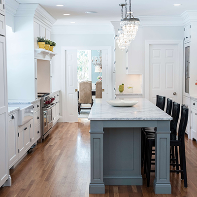 Classic White Beaded Kitchen Design Company in Westborough 2