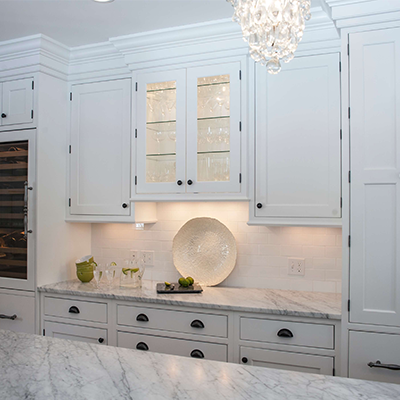 Classic White Beaded Kitchen Design Company in Westborough 3