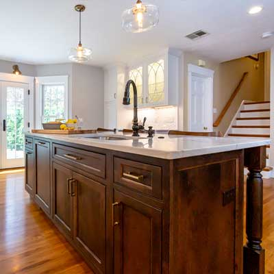 brushed brass kitchen examples - kitchen design build oil rubbed bronze and brass westborough mass-13