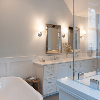 Luxury Transitional Master Bathroom 1