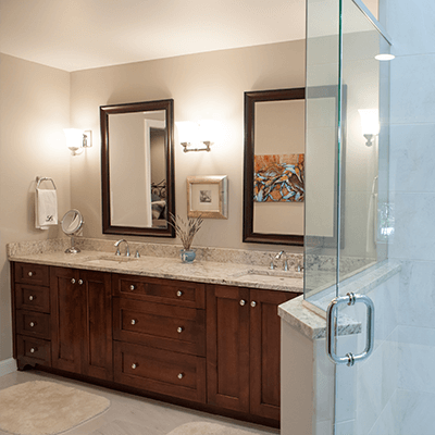 spacious master bathroom design and building 2