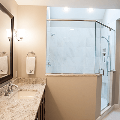 spacious master bathroom design and building 3