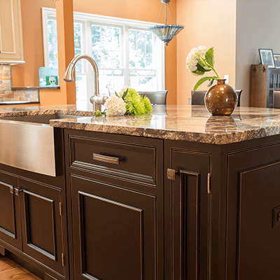 transition inset painted kitchen design