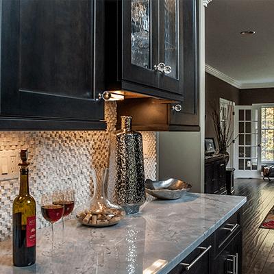 transitional kitchen design with quartzite tops 2