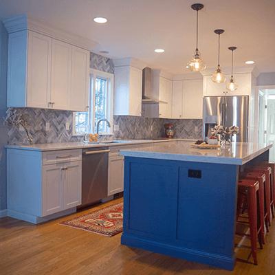 white kitchen design build services southborough 2