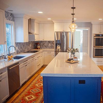 white kitchen design build services southborough 3